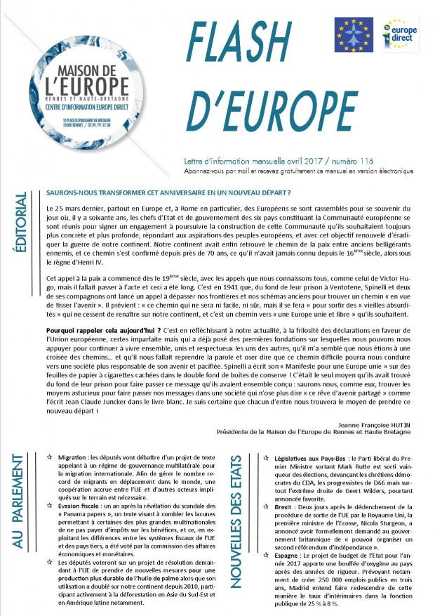 Flash d'europe avril 2017