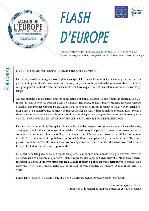Flash d'europe septembre 2017