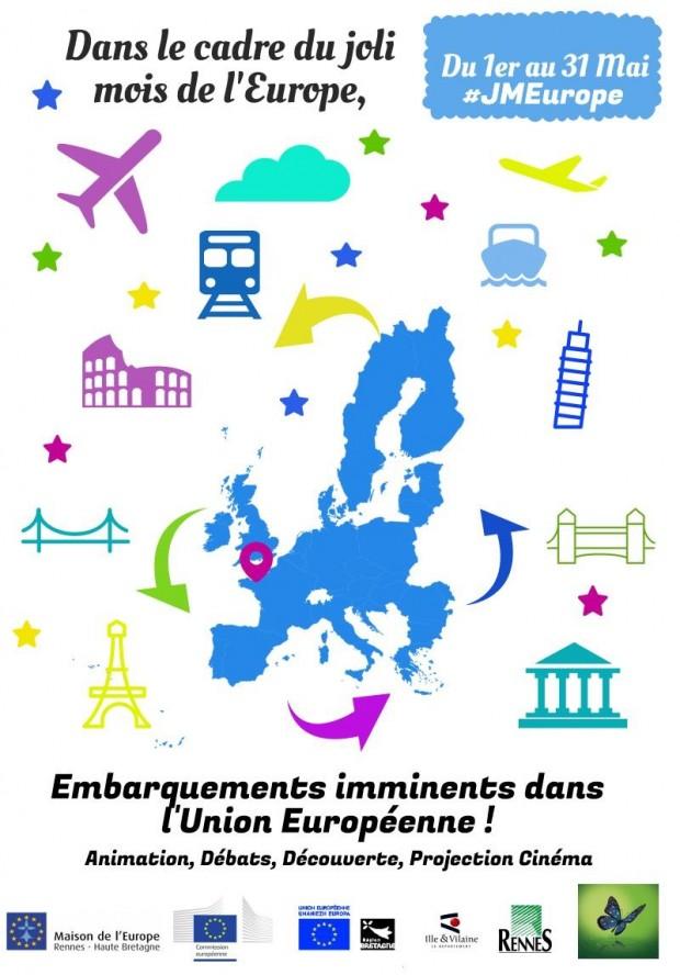 Affiche joli mois de l'Europe