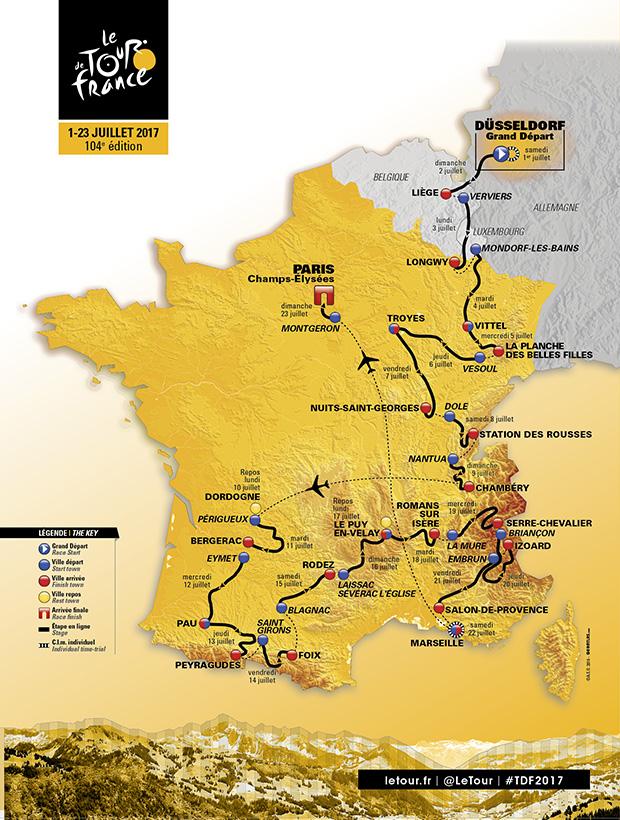 Parcours Tour de France 17