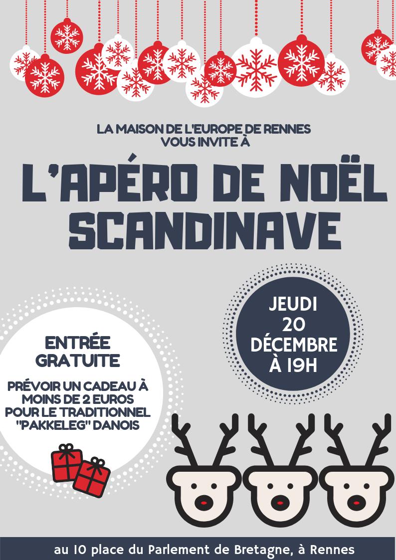 Affiche Apéro De Noël Scandinave