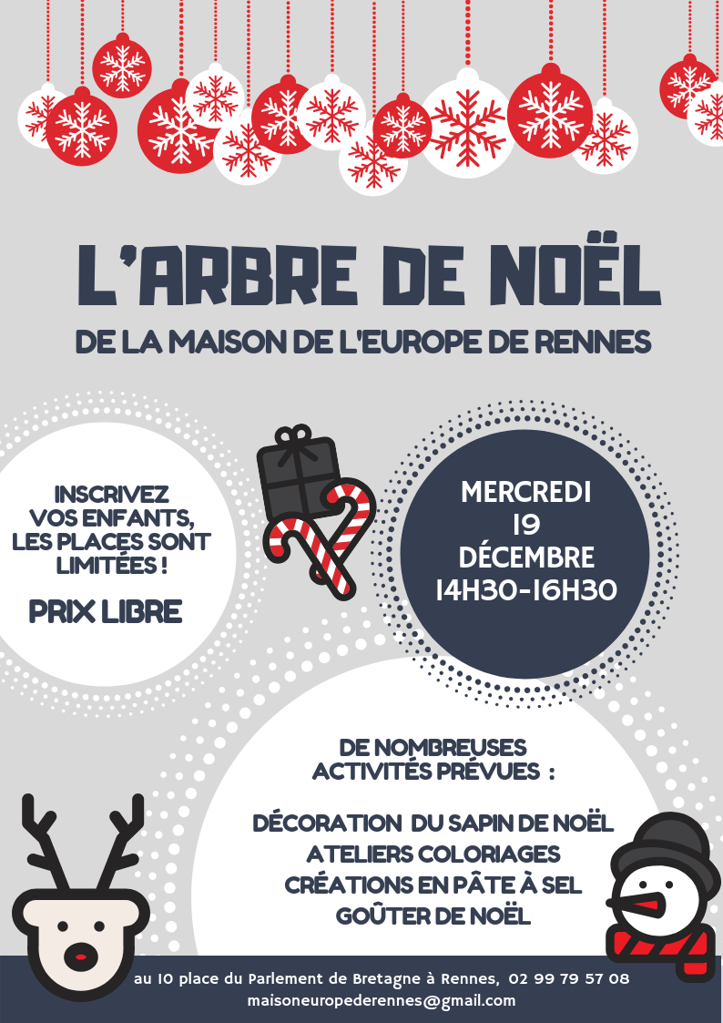 Affiche Arbre Noël Scandinave