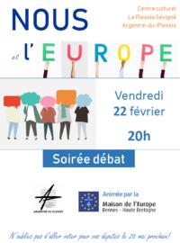 Affiche Argentré Soire´e De´bat Europe 22 02 2019