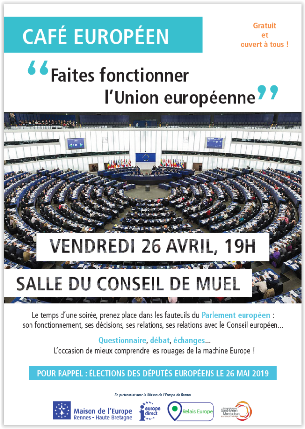 """Café européen """"Cette fois, je vote!"""" @ Muel"""