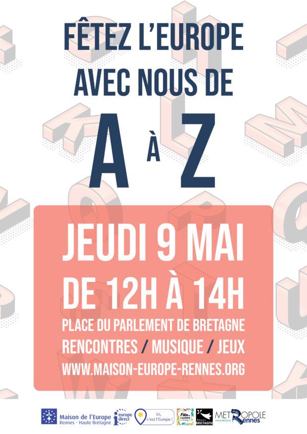 Fêtez l'Europe avec nous, de A à Z ! @ Place du Parlement de Bretagne