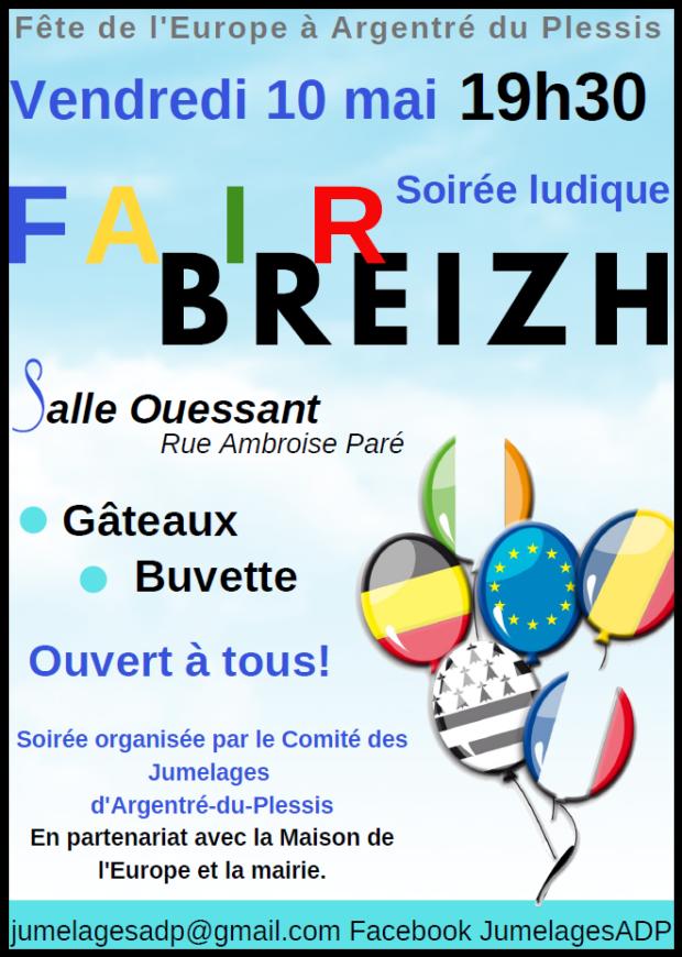 FAIR BREIZH - Fête de l'Europe @ Salle Ouessant - Argentré du Plessis
