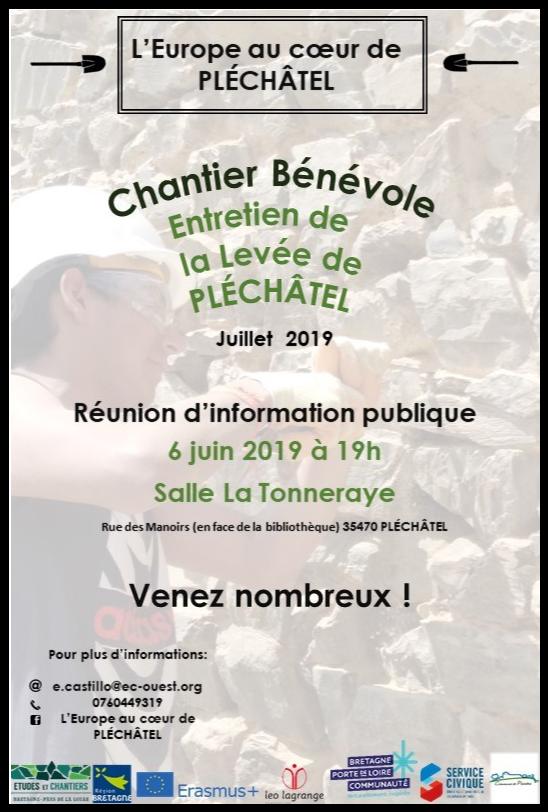 Réunion publique - L'Europe au cœur de Pléchâtel @ Salle de la Tonneraye