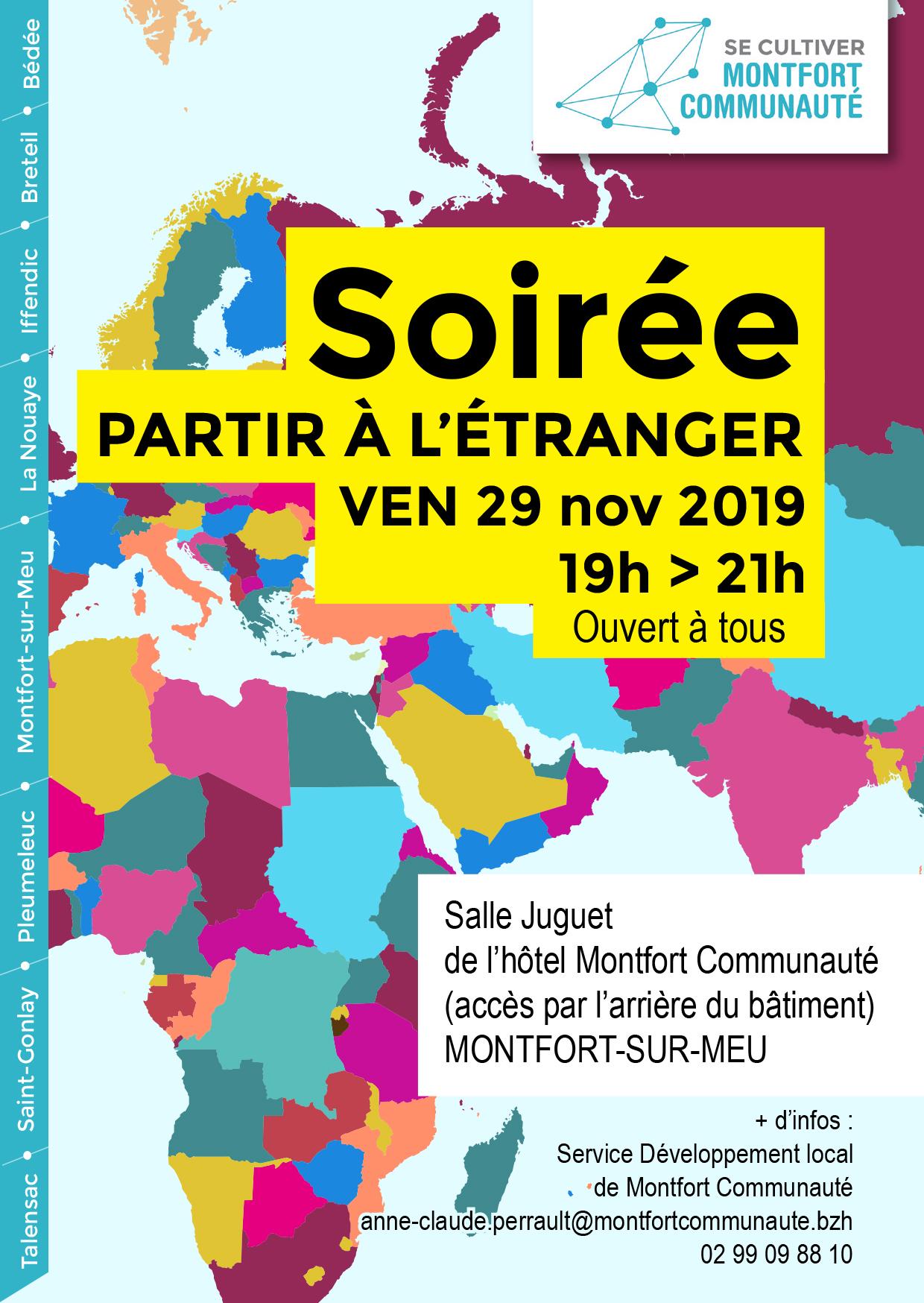 """Soirée """"Partir à l'étranger"""" @ Hôtel Montfort Communauté - Salle Juguet"""