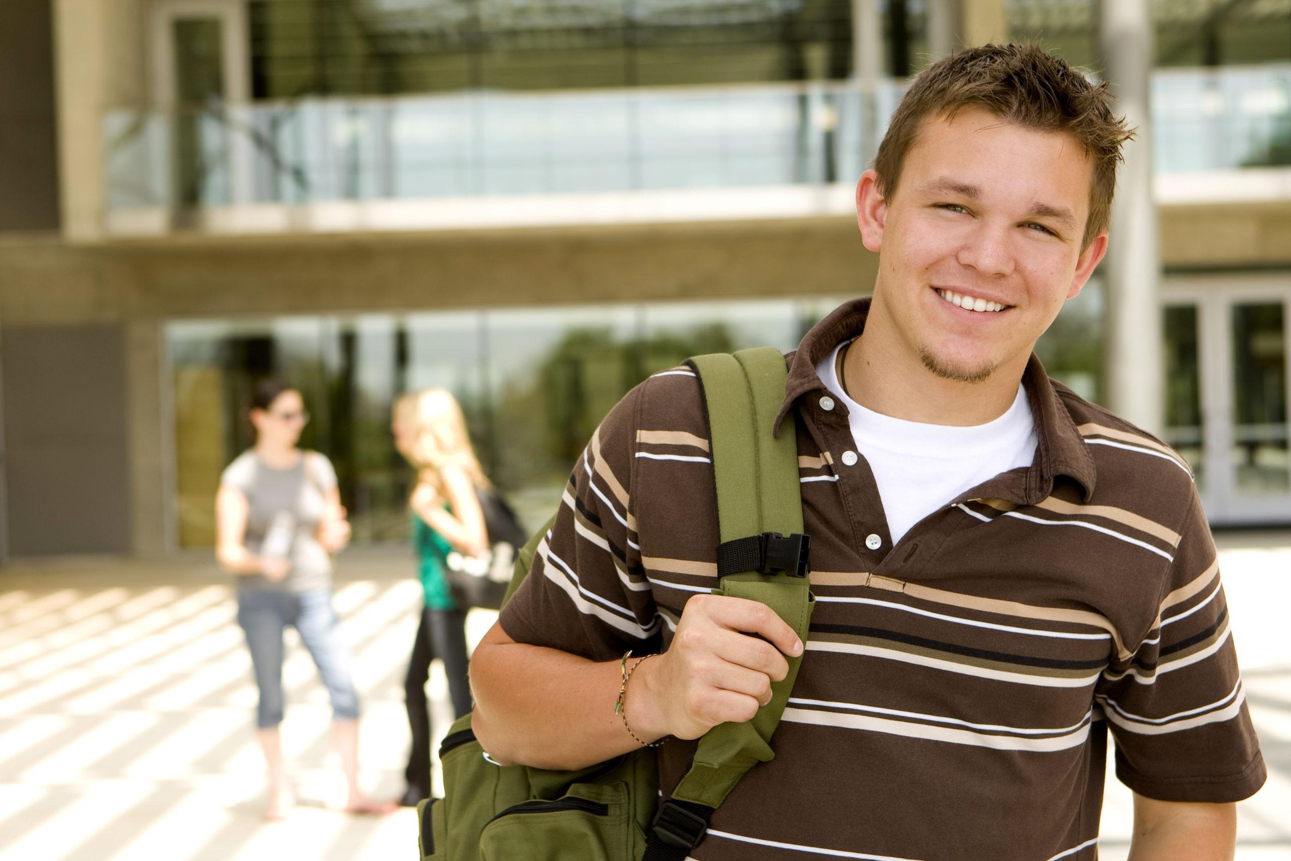 Young Man At School