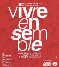 Vivre ensemble, les Assises de la citoyenneté @ Le Couvent des Jacobins - Centre des Congrès de Rennes Métropole