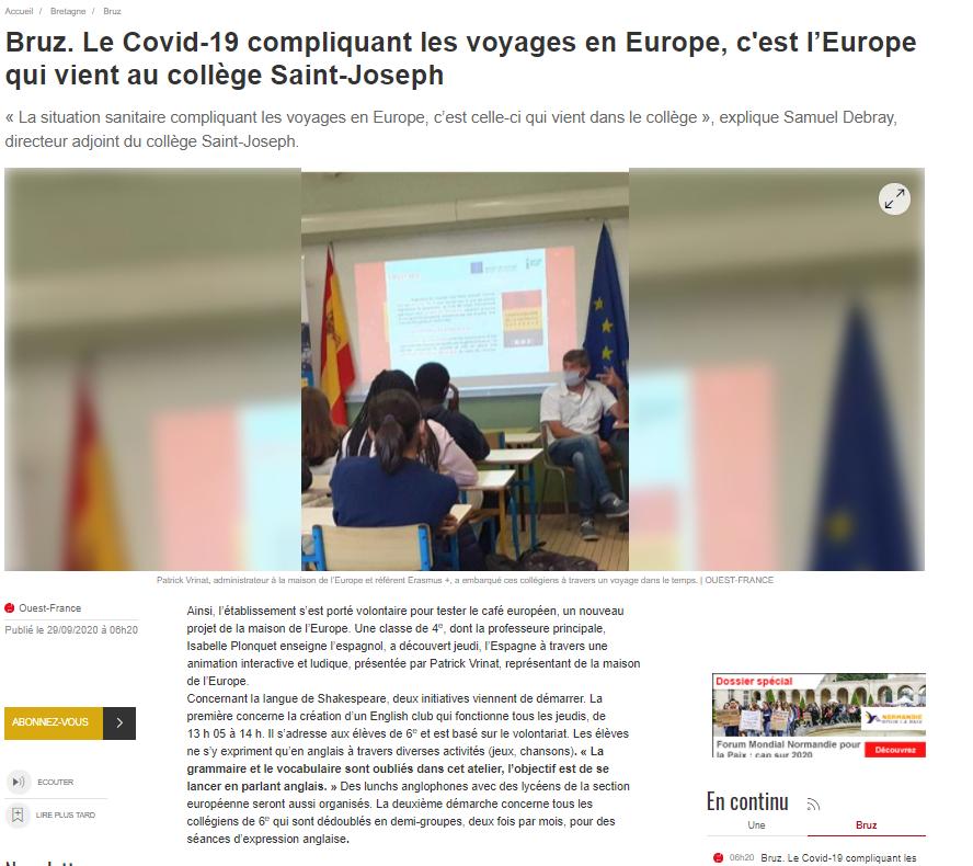 Animation Bruz Café Des Européen Sur Web