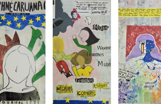 Les élèves plasticiens de 1ère du Lycée Saint-Sauveur à Redon célèbrent l'Europe